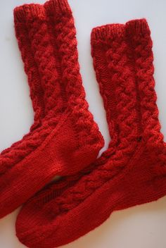 celia's socks | i made some thick worsted weight socks for K… | Flickr