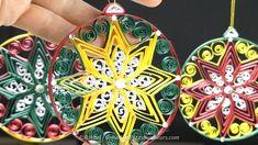 DIY – Boule de Noël en Quilling avec Étoile au peigne – Tuto