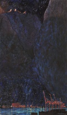 Nocturne – North Shore with Lions David Haughton Nocturne, Drawing Exercises, Art Challenge, Dark Art, Aesthetic Pictures, Painting Inspiration, Art Boards, Aesthetic Wallpapers, Contemporary Art