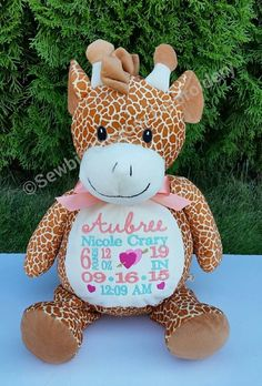 9 Best Personalized Stuffed Animals Images Baby Announcements