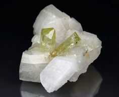gem BRAZILIANITE, ALBITE