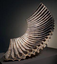 John Grade, Core, wood and resin, 41 x 43 x 27 in. Steel Sculpture, Sculpture Art, Davidson Galleries, Composition Art, T Art, Wooden Art, Ship Art, Woodworking Wood, Art Studios