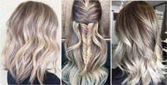 Пепельный цвет волос с темными корнями. Кристальная ясень.