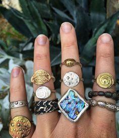 Mermaid ring collection by silversmith Kate Macindoe ✨