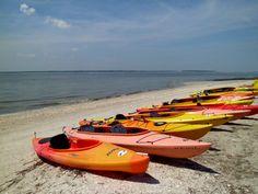 Ocean kayaks on the beach... Hilton Head Island dreaming... http://HiltonHeadRealtySales.com