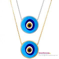 Cam Nazar Boncuklu Gümüş Kolye - Kaliteli camdan üretilmiş, mavi nazar boncuklu, ince zincirli zarif  bir model.  Modern ve dikkat çekici görüntüsü ile her zaman kullanmak isteyeceğiniz bir gümüş kolye. Nazar Boncuğu Resimleri