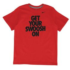 Nike Get Your Swoosh On T-Shirt - Boys' Grade School - Basketball - Clothing - University Red/Black