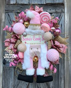 BaBamWreaths on Etsy Pink Christmas Decorations, Christmas Centerpieces, Valentine Decorations, Christmas Colors, Christmas Wreaths, Christmas Crafts, Winter Wreaths, Shabby Chic Christmas, Victorian Christmas