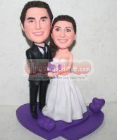 Custom Cake Toppers & Personalized Cake Toppers For Wedding, Anniversary. WowMiniMe Create Your Own Custom Cake Toppers With Satisfactions Guaranteed. Personalized Wedding Cake Toppers, Custom Cake Toppers, Purple Themes, Amazing Wedding Cakes, Heart Shapes, Wedding Planner, Cool Things To Buy, Wedding Stuff, Wedding Ideas