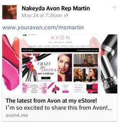 Shop w/ msmartin as ur Personal Avon Representative