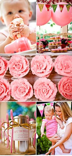 Pretty in Pink birthday inspiration #stylemepretty  #birthday #firstbirthday