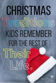 Love these Ideas for new Christmas Traditions!