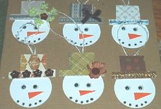 snow man heads - kids can decorate hats with a variety of objects