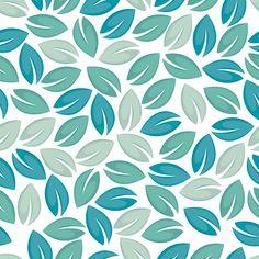 leaves pattern aqua teal turquoise