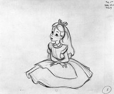 Alice in wonderland drawing (Bottle Sketch Alice In Wonderland)