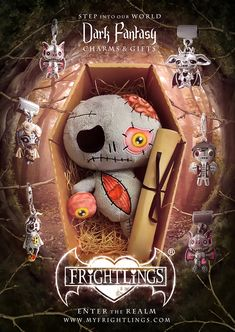 Frightlings dark fantasy charms and gifts.step into our world! Gothic Fantasy Art, Dark Fantasy, Gothic Poems, Cute Skeleton, Mini Pony, Voodoo Dolls, Pencil Art Drawings, Pop Surrealism, Creepy Cute