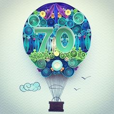 Hot Air balloon - quilling