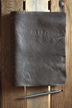 DIY Leather/Suede covered planner