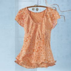 Citrus Splash Batik Top - Women's Clothing, Jewelry, Fashion Accessories and Gifts for Women with a Flair of the Outdoors | NorthStyle