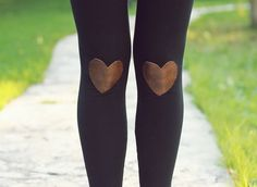 Wear your heart on your knees (not your sleeve) with these cute leggings.