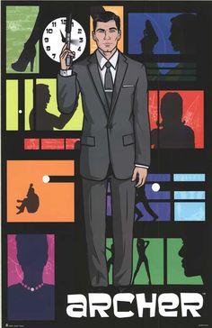 Love this tv show!! #Archer (TV) movie posters at @MovieGoods | MovieGoods.com