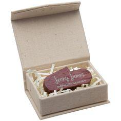 Neil Enterprises - Wholesale Flash Drive Boxes - Linen Flash Drive Box