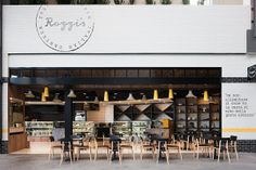 Rozzi's Italian Canteen (Highpoint, Vic) by Mim Design. The Australian Interior Design Awards Australian Interior Design, Interior Design Awards, Retail Interior, Cafe Design, Restaurant Interior Design, Restaurant Interiors, Cafe Interiors, Modern Restaurant, Restaurant Signage