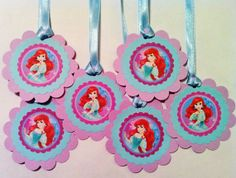 The Little Mermaid Party Favor Tags