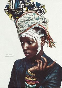Featuring Tanzanian model Herieth Paul for Tush Magazine, this editorial is a blend of olden and modern Africa African Inspired Fashion, Africa Fashion, Women's Fashion, Fashion Tips, Turbans, Headscarves, African Beauty, African Art, African Prints