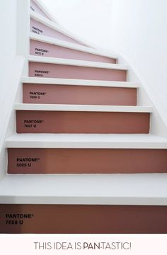 #Pantone stairs in berry shades - such a great idea!
