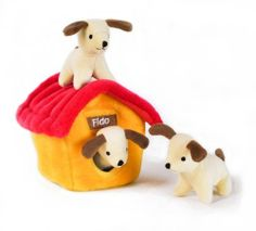 Zippy Burrow Dog House - Squeaky Plush Hide-and-Seek Dog Toy - Squeak Toys #Dogs #Dog #Pets #Pet #Gift #Gifts #Christmas #Holiday #Holidays #Present #Presents #Accessories #Dog #Dogs #Chew #Squeak #Toys #Toy