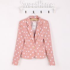 Free Shipping The new female Shibo point casual jacket-inBlazer & Suits from Apparel & Accessories on Aliexpress.com