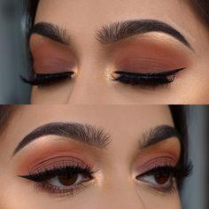 Perfect Makeup, Cute Makeup, Glam Makeup, Makeup Inspo, Makeup Light, Eye Makeup Art, Skin Makeup, Eyeshadow Makeup, Eye Makeup Designs