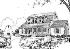 Country Farmhouse | Philip Franks | Southern Living House Plans