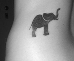 Elephant Tattoo - I would get this on the back of my neck