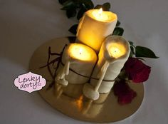5D cake candles