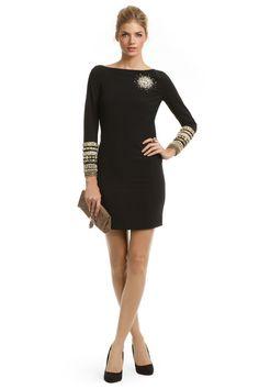 Black Moschino Dress, $350 #Decades #RenttheRunway