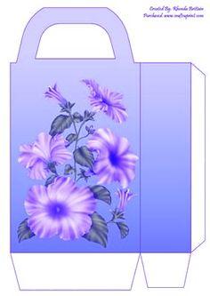 Petunias on rectangle  handled X2 bag
