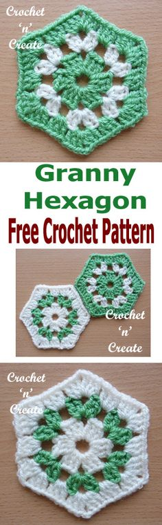 Crochet Granny Hexagon Free Crochet Pattern - Crochet 'n' Create