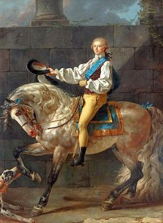 Jacques-Louis David, Portrait of Count Stanislas Potocki, 1780, olio su tela, National Museum, Warsaw.