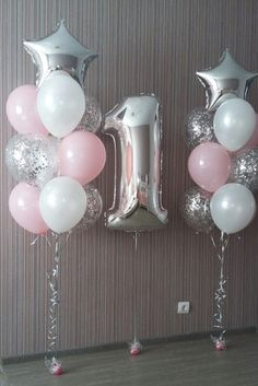 19 trendy birthday party princess balloons - Decoration For Home 1st Birthday Party For Girls, Baby Birthday, Birthday Celebration, 1st Birthday Balloons, Birthday Ideas, Balloon Decorations, Birthday Decorations, Princess Party Decorations, Pastell Party