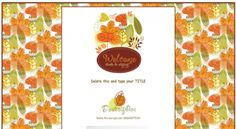 Foliage Scrapbook Style Fall Leafs Autumn  eBay Template FreeAuctionDesigns.com