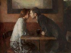 huariqueje:  Stolen Kiss - Ron Hicks American painter b.1965 Impressionism