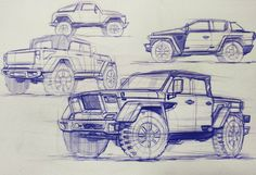 military jeep idea sketches #transportation #perspective #automotivedesign…