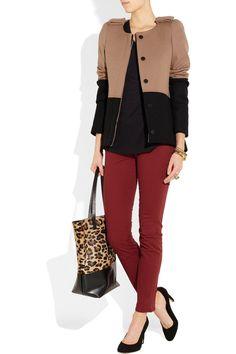 Maje Hungary two-tone wool-blend jacket $560