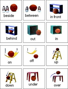 PECS about positions. Preposition Activities, Autism Activities, Autism Resources, Language Activities, Classroom Activities, Preposition Pictures, Autism Sensory, Speech Language Therapy, Speech And Language
