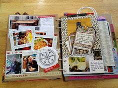MakePrettyStuff: Paris Smash Book--really neat travel journal. Love the usage of the bag in the book.