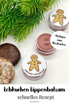 Süße Weihnachtsgeschenkideen – Lebkuchen Lippenbalsam Sweet DIY Gifts: make gingerbread lip balm yourself. Perfect gift ideas to make up for the best friend or mom. Great idea for a gift for Christmas. That's how you make Christmas presents yourself. Diy Christmas Gifts For Boyfriend, Diy Gifts For Girlfriend, Diy Gifts For Dad, Diy Gifts For Friends, Boyfriend Gifts, Christmas Diy, Christmas Presents, Christmas Gingerbread, Chocolates Ferrero Rocher
