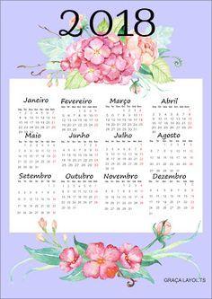 Novos calendários 2018 para baixar