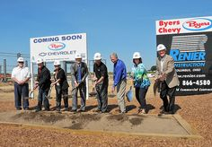 Despite the nature of the ceremony, progress on Grove City's first new car dealership is further along than a groundbreaking.